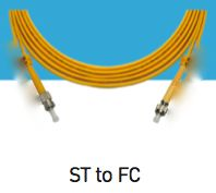 LINK, UF-6482,  ST-FC Single Mode, 9/125 um., Simplex Patch Cord, 2 M.