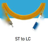 LINK, UF-6422,  ST-LC Single Mode, 9/125 um., Simplex Patch Cord, 2 M.