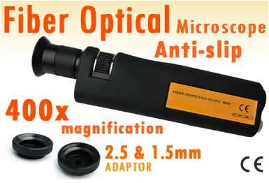 HandHeld 400x Fiber Optical Inspection Microscope, CL400 (0)