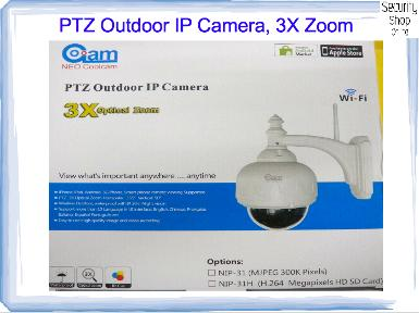 PTZ Outdoor IP Camera, 3X Optical Zoom,  NIP-31H