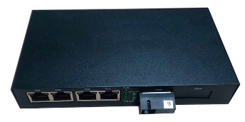 10/100 Base-Tx to 100 Base-Fx, Media Converter, Single Mode, 20KM., 4xRJ45 Port (4)