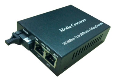 10/100 Base-Tx to 100 Base-Fx, Media Converter, Single Mode, 20KM., 2xRJ45 Port (1)