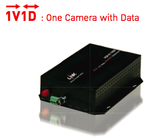 LINK, Video Transmitter 1CH with Data, Single Mode, 20KM.,  1V1D, VCC-0110ST