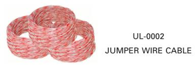 LINK, UL-0002, Jumper Wire White-Red, 2 Core, 24 AWG   (0.50 mm)   (2)