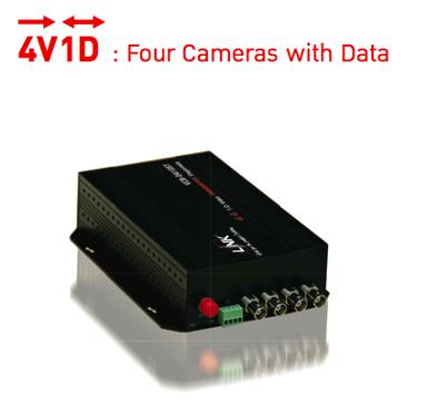 LINK, Video Transmitter 4 CH with Data, Multimode, 500 M.,  4V1D, VCC-0410MT