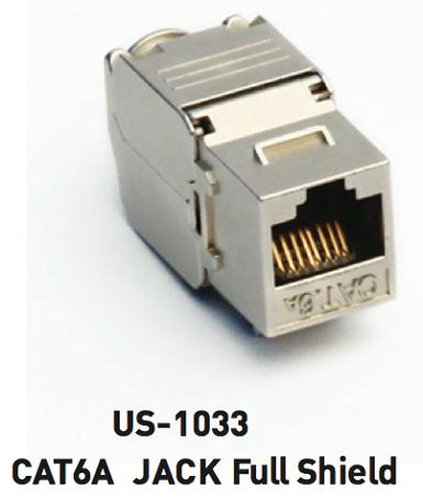 CAT6A RJ45 Modular Jack, FULL SHIELD