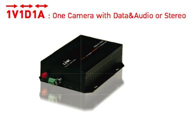 LINK, Video Transmitter 1CH with Data&Audio, Single Mode, 20KM.,  1V1D1A, VCC-0111ST